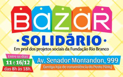 Fundação realiza Bazar Solidário em prol dos seus projetos sociais