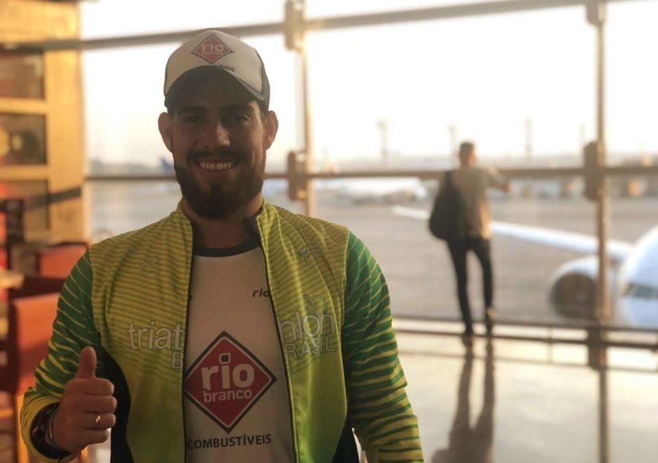 Jhonathan Castro embarca para mais um campeonato mundial de Triatlhon na Suiça