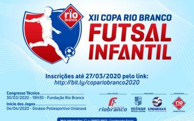 Regulamento Geral da XII Copa Rio Branco de Futsal Infantil